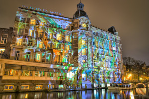 Light Festival, Hotel De Doelen, Amsterdam, The Netherlands